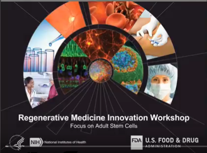 screenshot of Video of December's Regenerative Medicine Innovation Workshop