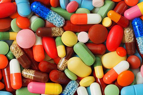 Colorful pills.