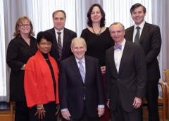 NIAMS Director Dr. Stephen I. Katz and Deputy Director Dr. Robert Carter welcome new members to the institute's council. Pictured are (front row from l) Dr. Gwendolyn Powell Todd Dr. Katz and Dr. Carter. At rear are (from l) Dr. Christy Sandborg Dr. Gary Koretzky Dr. Grace Pavlath and Alexander Silver.