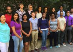 Robert Walker Ph.D. Chief Career Development and Outreach Branch (right); NIAMS 2015 Summer Interns (center); Stephanie Mathews Ph.D. Scientific Program Manager (left).