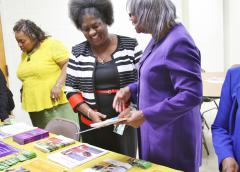 Photo of women at a Kidney Sundays event